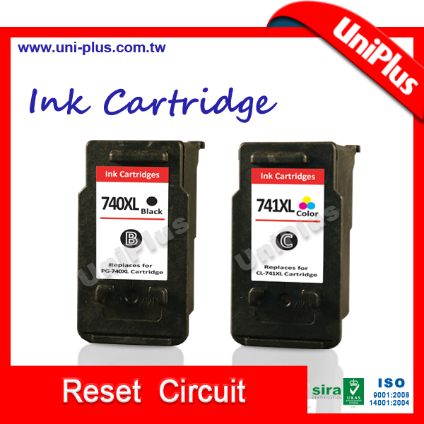 Chip reset to full ink for canon 740 741 ink cartridge for