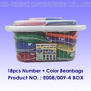 18pcs Number+Color Beanbags