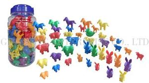 Animals set, 108pcs, 6 Shapes 6 Colors