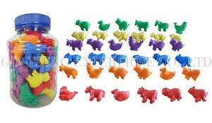 Farm Animals Set, 72pcs ,6 Shapes 6 Color
