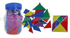 Tangram Set ,35pcs, 7pcs/Group, 5 Colors