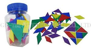 Multilateral Tangram Set, 10pcs/Group, 5 Colors