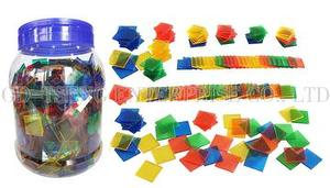 Transparent Colored Tiles, 1000pcs, 4 colors