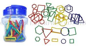 Logical Chain Rings, 40pcs ,5 Shapes 4 Colors