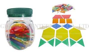 Transparent Board ,49pcs , 6 Shapes 6 Colors