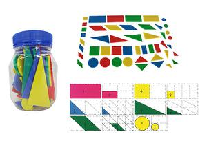 Soft Square Fraction ,48pcs ,12pcs/Group