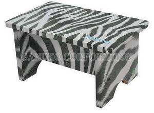 DIY Green Paper Furniture Low Stool Zebra