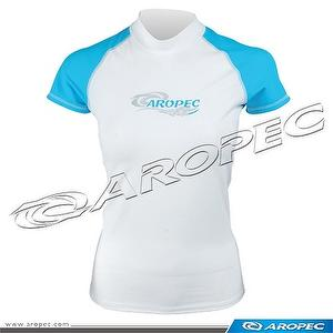 Lycra Short Sleeve Rash Guard for Lady, Rash Guard