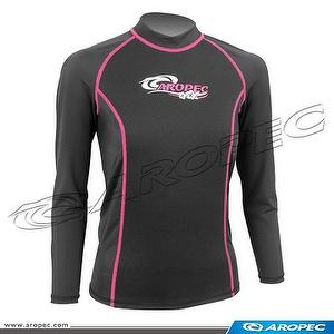 1.5mm Neoprene/Lycra Long Sleeve Rash Guard for Lady, Rash G