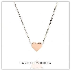 Heart Necklace 316L Stainless steel N-0102 RG