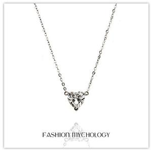 Crystal Heart Necklace 316L Stainless steel N-0103
