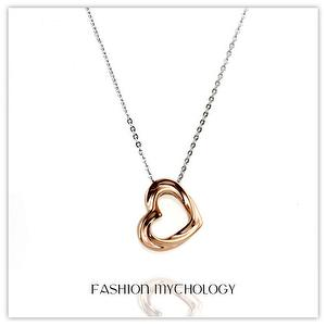 Torsion Heart Necklace 316L Stainless steel P-3605