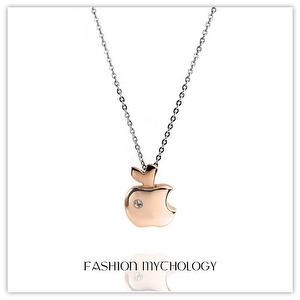 Apple Pendant 316L Stainless steel P-3731 Rose Gold