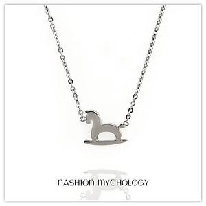 Rocking Horse Necklace 316L Stainless steel P-3758