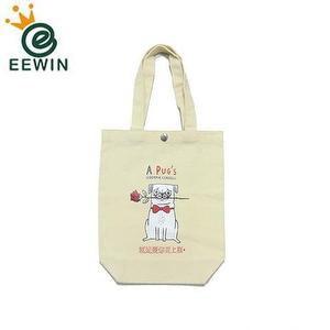 Custom Printing Canvas Shopping Bag Suppliers Metal Button