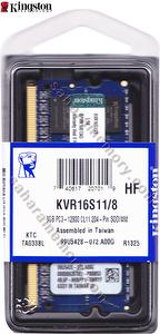 KVR16S11/8  DDR3 1600 8GB SODIMM DRAM Memory Modules