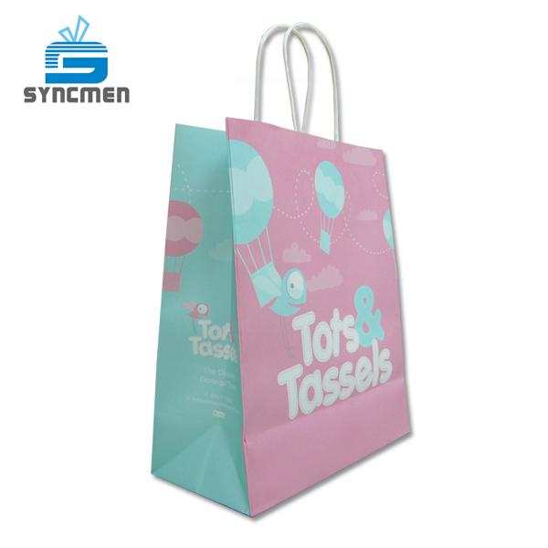 Custom Design Paper Shopping Kraft Paper Bag Manufacturer Paper
