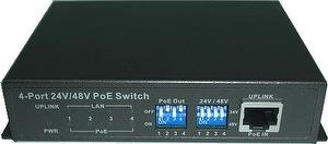 PW541S 5 Port 10/100Mbps Switch with 4p PoE On/Off