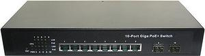 PS802G 10 Port PoE IEEE 802.3at Gigabit Switch Metal case