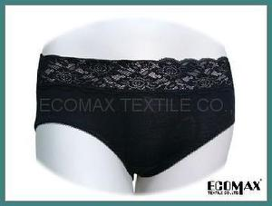 Black Lace Middle Rise Brief