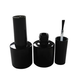 8ml Round Black Glass Bottle