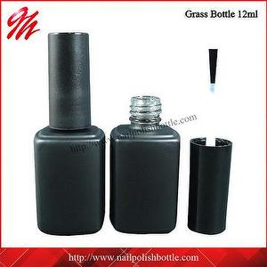 12ml Matte Black Empty Gel Nail Polish Bottle