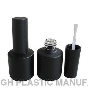 8ml Matte Black Glass Bottle For UV Gel Nail Polish