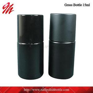 15ml black glass gel nail polish bottle