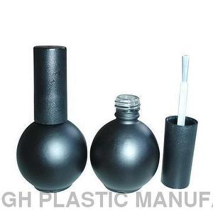 15ml Ball Shaped Matte Black Bottle For UV Gel Polish