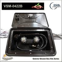 RV Exterior Shower Box Kit w/shower faucet and hose componen