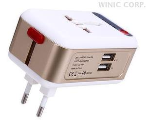 Smart Timing Universal Travel Adapter white