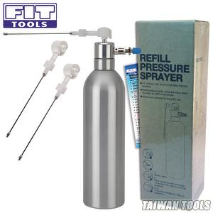 Aluminum Can Pneumatic Refillable Pressure Sprayer with 2 pcs Extra Nozzle