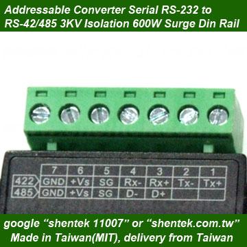 rs485 rs485转换器3kv光学光电隔离器隔离