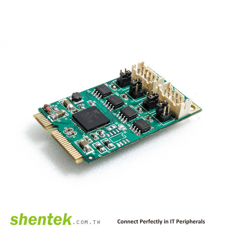 Industrial Embedded 2 port RS422 RS-422 RS485 RS-485 Mini PCI PCIe ...