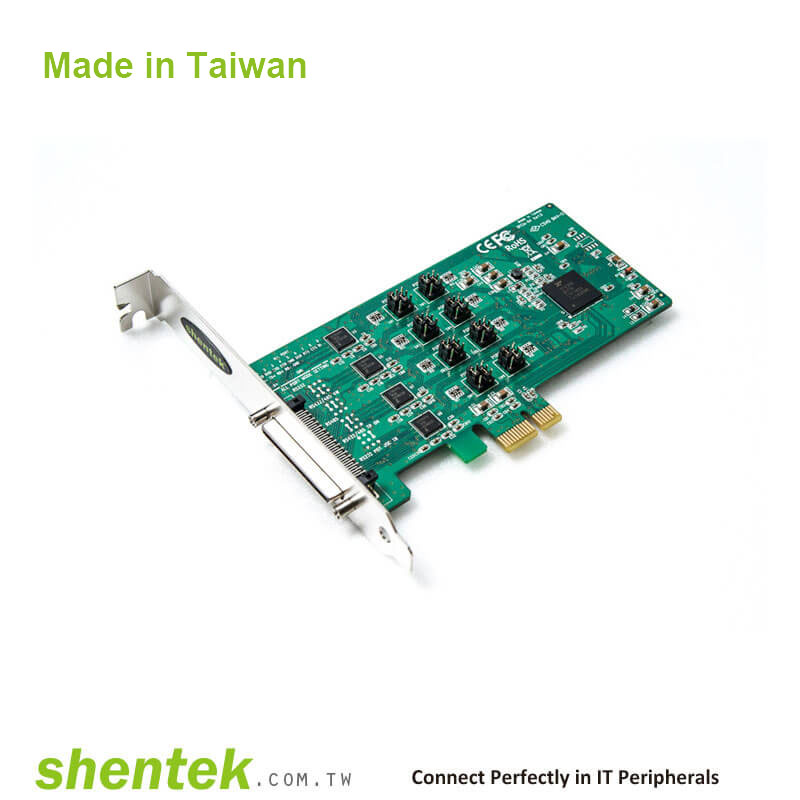 Industrial 8 port RS232 RS-232 RS422 RS-422 RS485 RS-485 PCI PCIe ...
