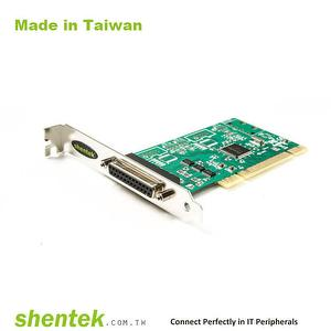 Industrial 1 port Parallel PCI Card Remap 378 278 EPP ECP SPP mode shentek 62011