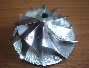 Turbo 18G billet compressor wheel made by 3rd-order surface
