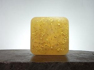 Pure gold flake essential oil handmade soap