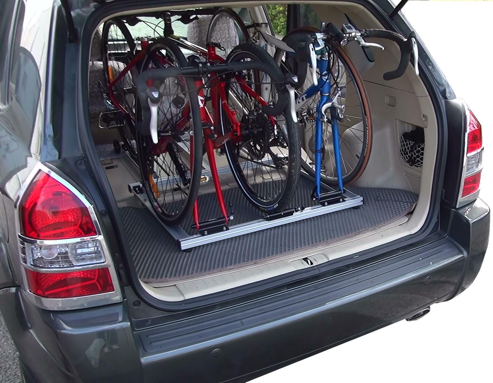 3 mtb bicycles in car carrier rack for van rv suv interior bike rack 100 made in taiwan sports. Black Bedroom Furniture Sets. Home Design Ideas
