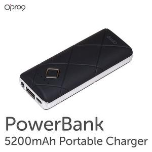 5200mAH Power Bank with Led Flashlight (Black)