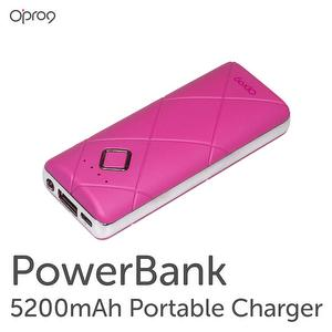 5200mAH Power Bank with Led Flashlight (Pink)