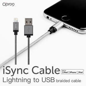 Nylon Braided Lightning Cable for iPhone (Gray)