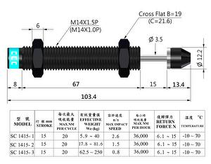HYDRAULIC SHOCK ABSORBERS,  INDUSTRY SHOCK ABSORBERS