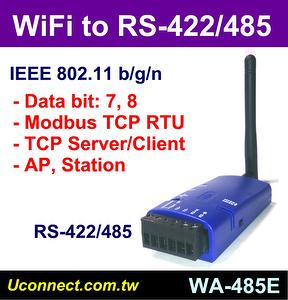 WiFi RS-422/485 serial adapter, Wireless RS422 RS485 converter, Modbus TCP RTU