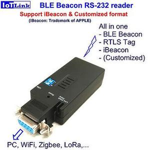 Bluetooth BLE beacon RS232 reader