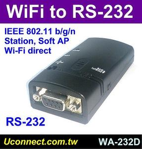 WiFi RS-232 adapter, Serial to WiFi converter