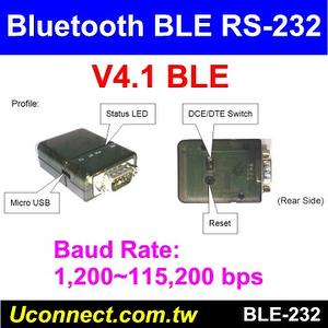 Bluetooth V4.1 BLE RS232 serial adapter Profile
