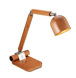 Wooden Table Lamp with Touch Control, 5 Levels Dimmable Desk