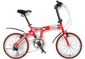 CITY BIRD - 20 inch 21 spd folding bike_ferrari red