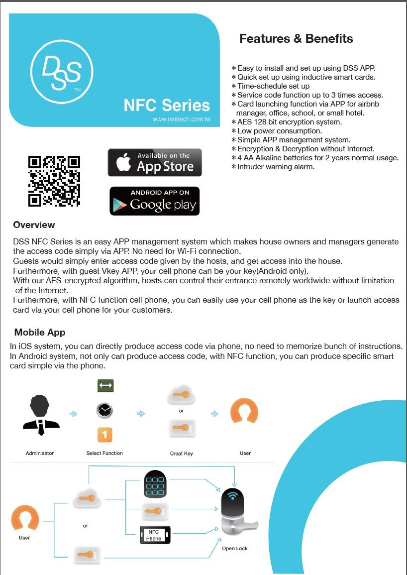 nfc smart lock access control access control systems on nestech corporation ltd idealez. Black Bedroom Furniture Sets. Home Design Ideas
